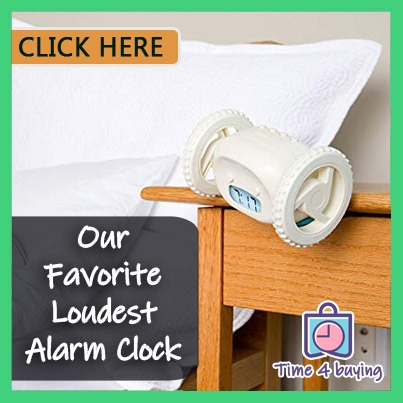 favorite alarm clock for heavy sleeper