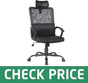 Smugdesk Ergonomic Office Chair Adjustable Headrest Mesh Office Chair