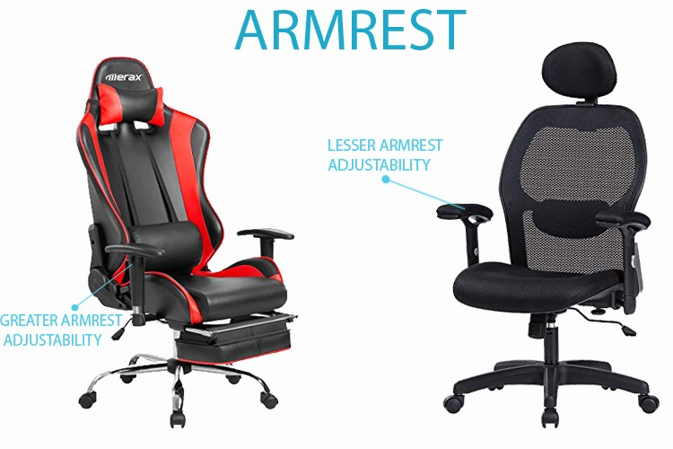 armrest and headrest