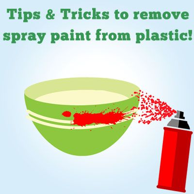 how to remove spray paint from plastic illustration