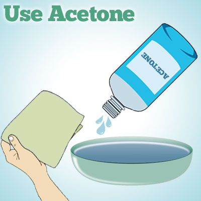 use acetone to remove spray paint