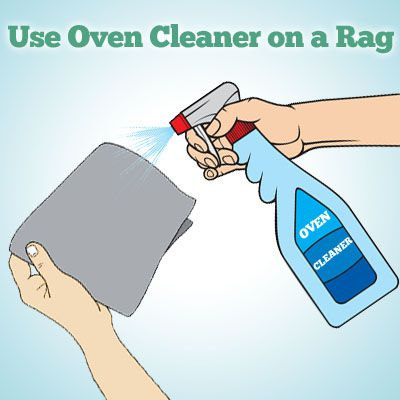 use oven cleaner to remove spray paint