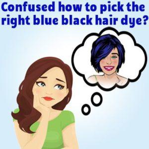 best blue black hair dye illustration